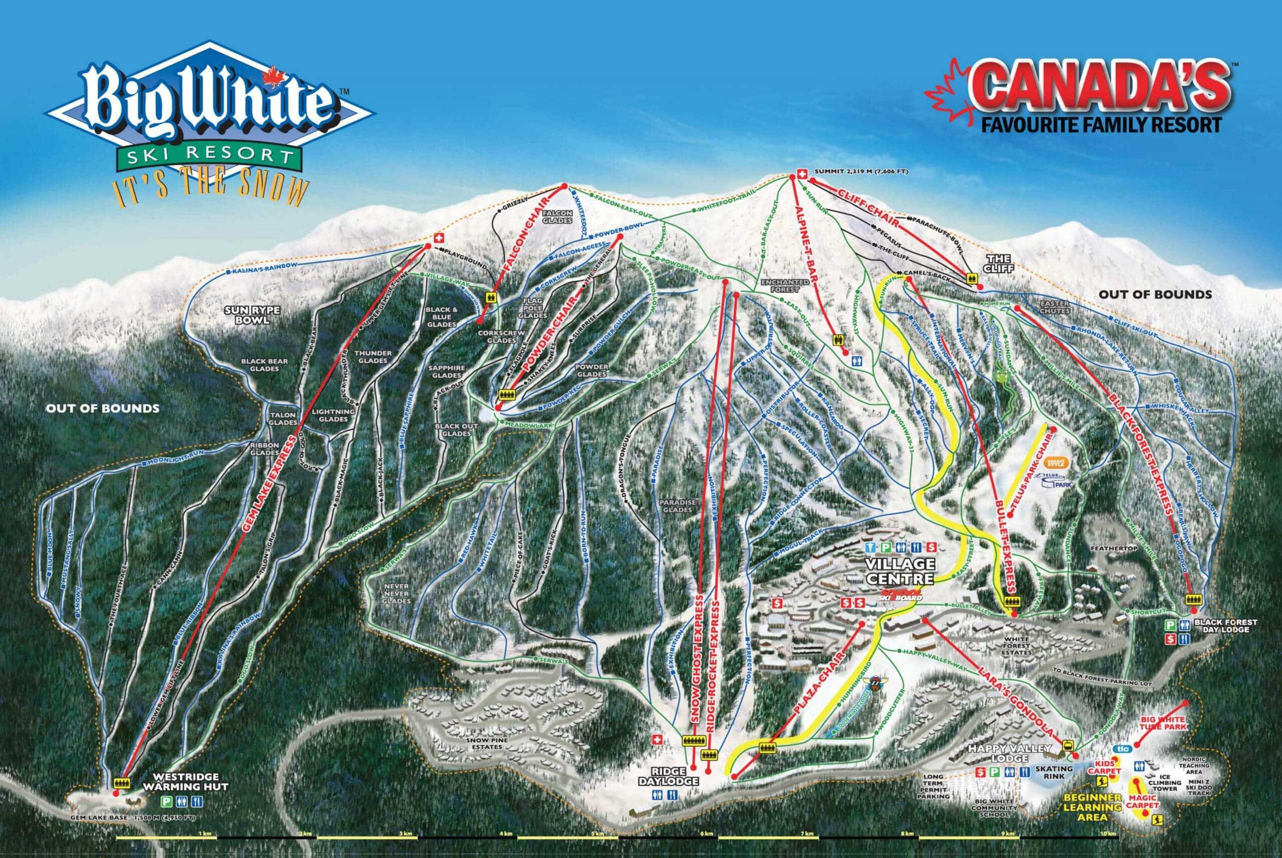 Big White Ski Trail Map 2018 scaled