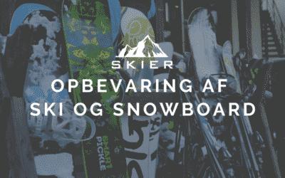 Opbevaring Af Ski & Snowboard
