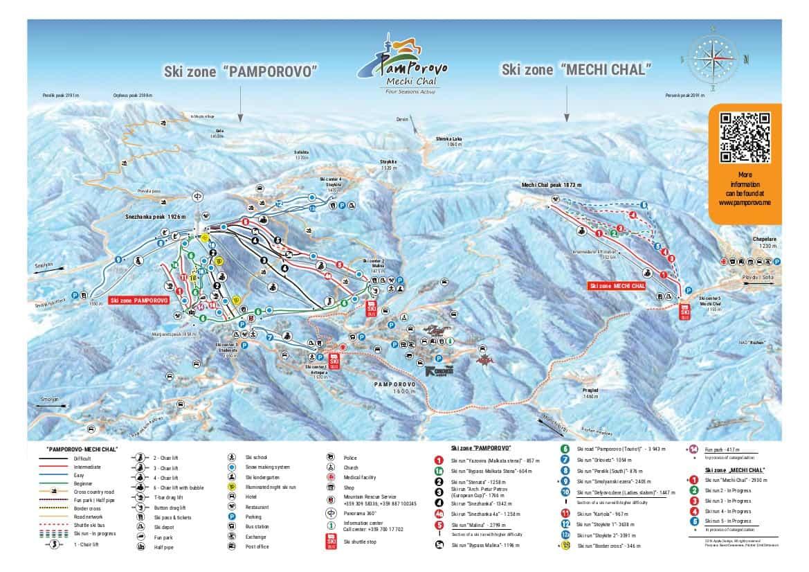 Pamporovo Ski Trail Map 2019 jpg