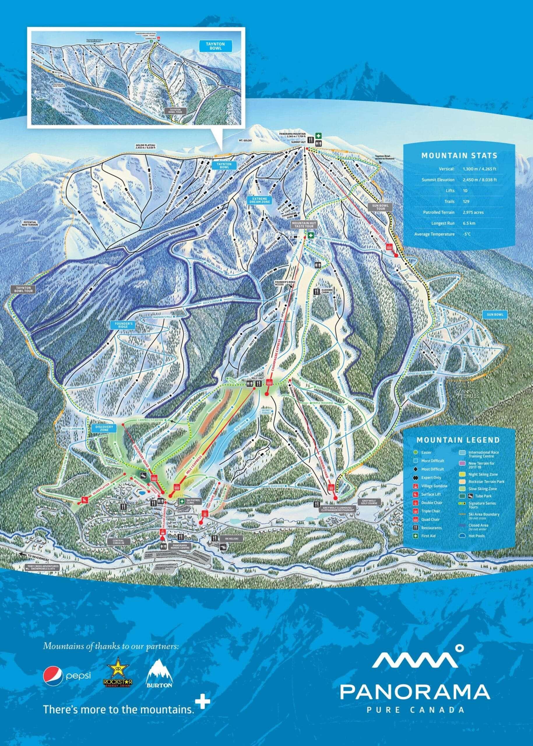 Panorama Ski Trail Map 2019 scaled