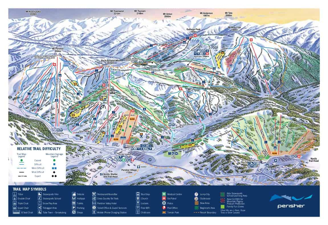 Perisher Ski Trail Map 2018