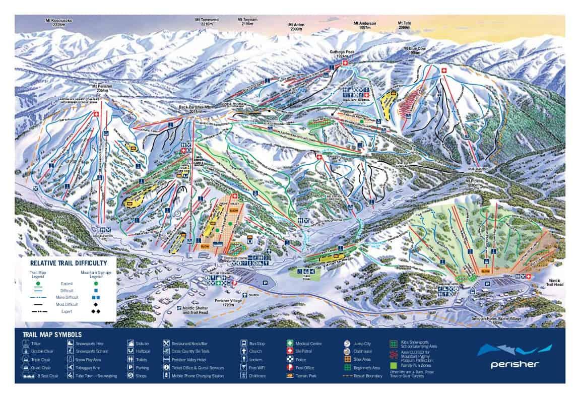Perisher Ski Trail Map 2018