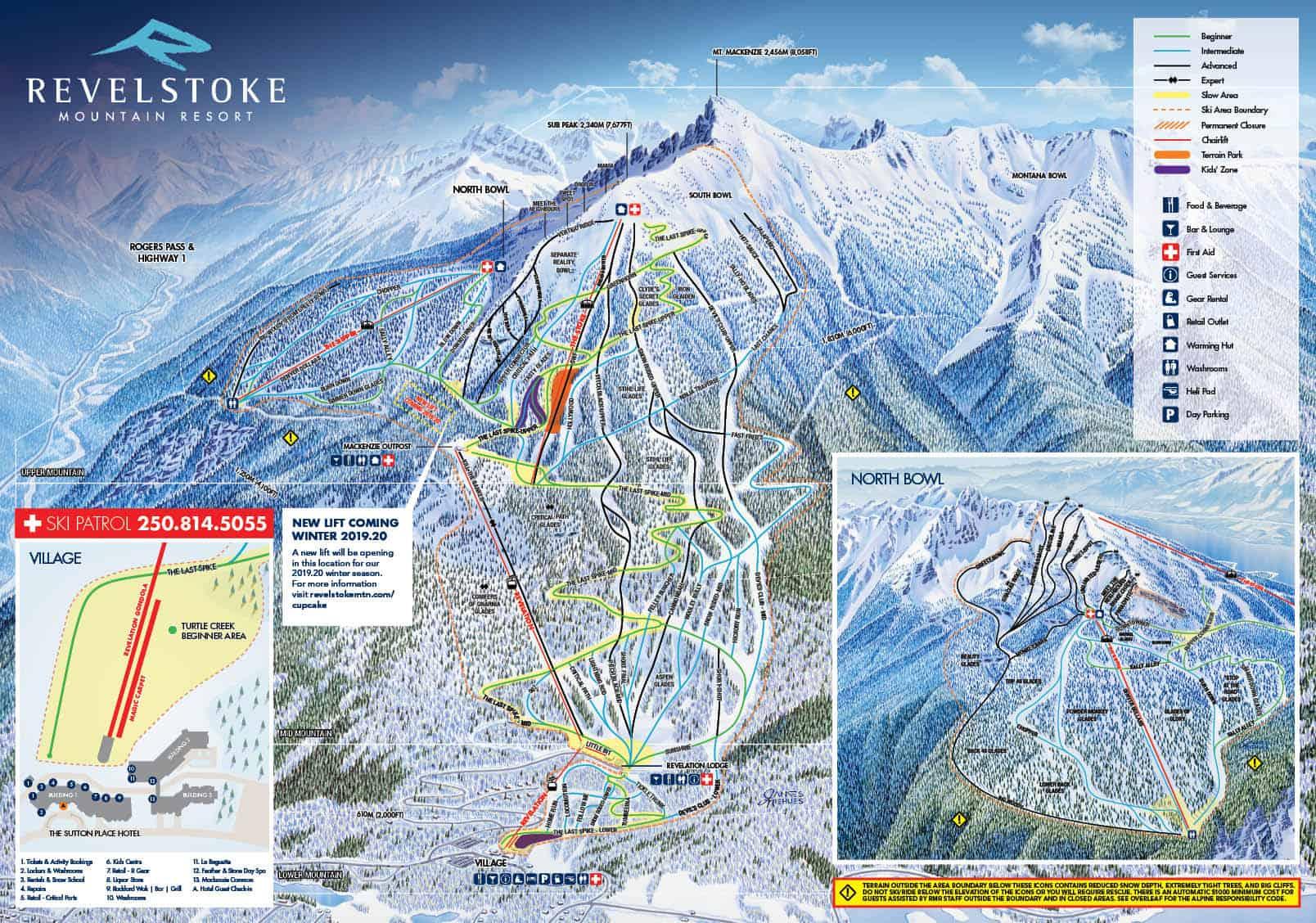 Revelstoke Ski Trail Map 2019