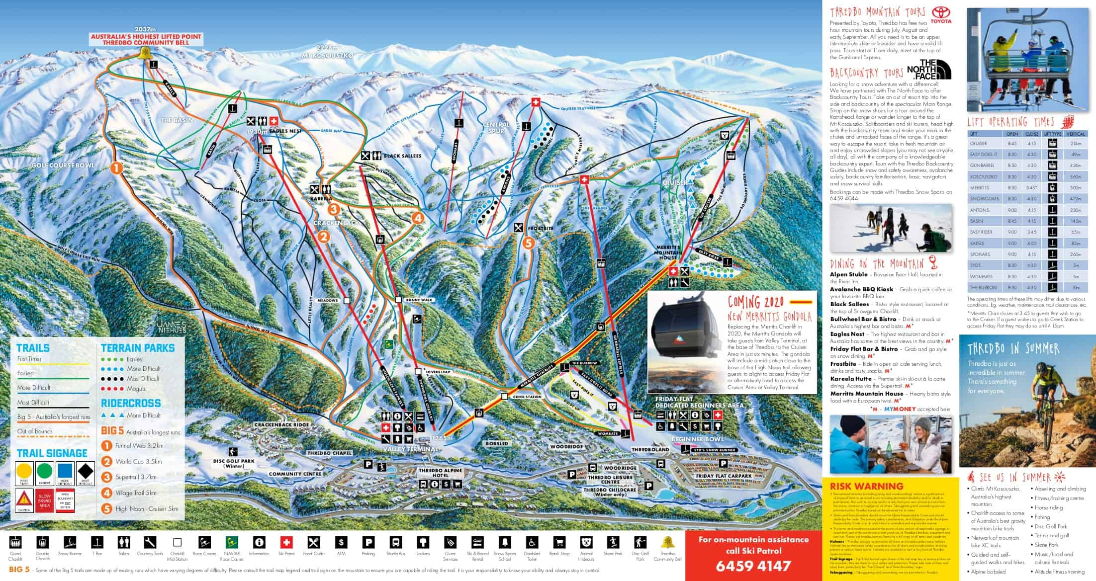 Thredbo Ski Trail Map 2019