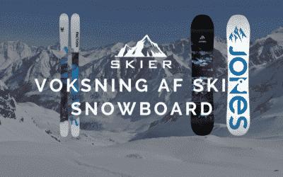 Voksning af ski & snowboard