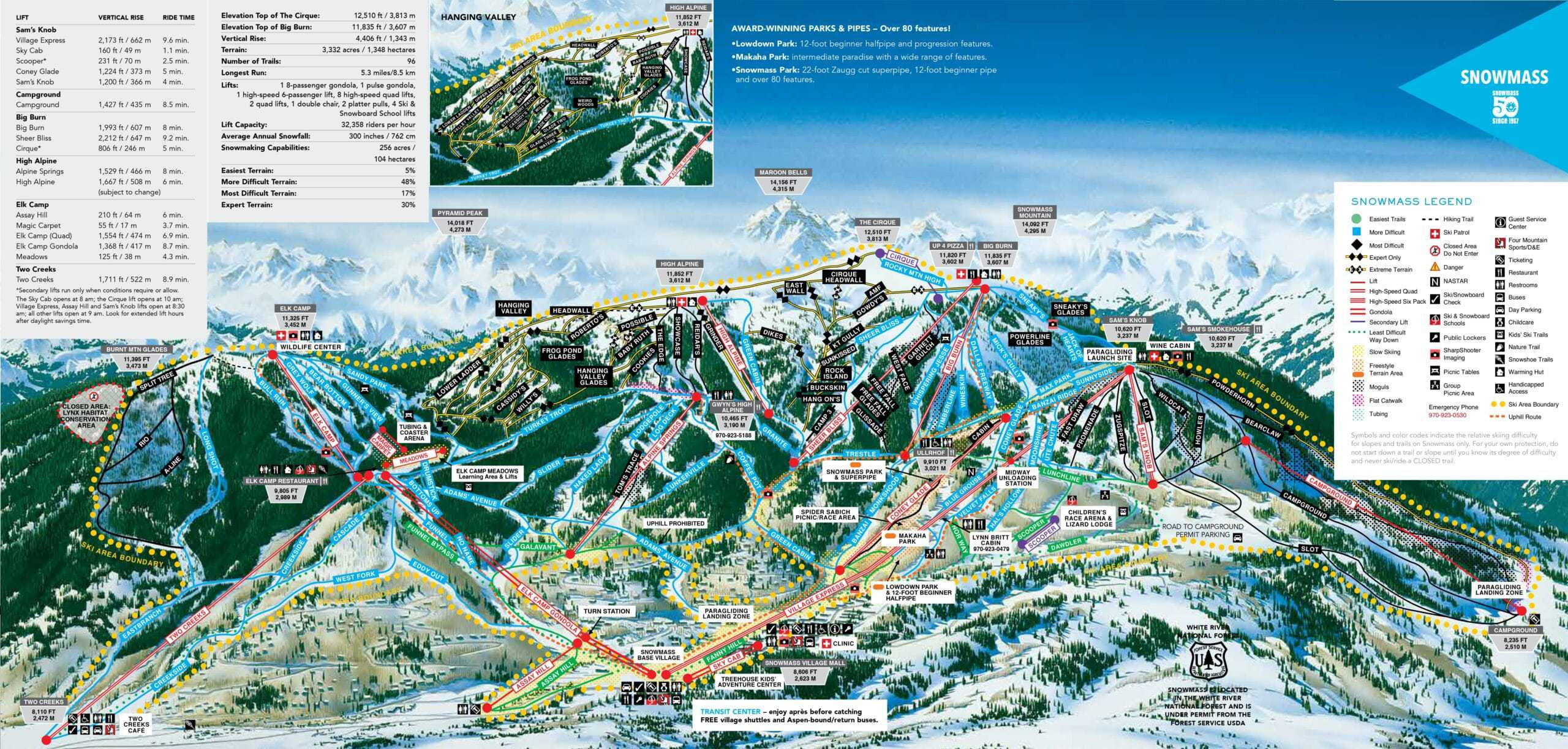 Aspen Snowmass Ski Trail Map 2018 scaled