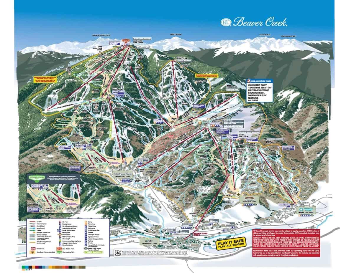 Beaver Creek Ski Trail Map 2019