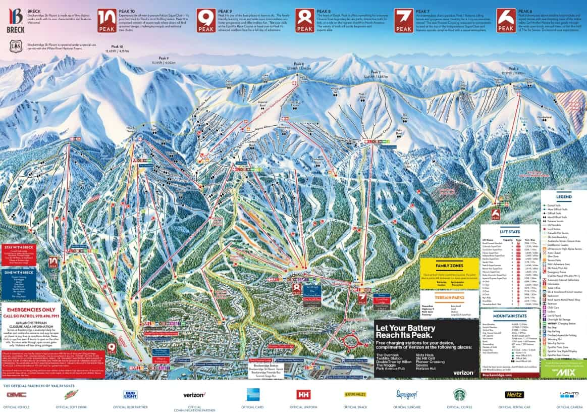 Breckenridge Ski Trail Map 2018