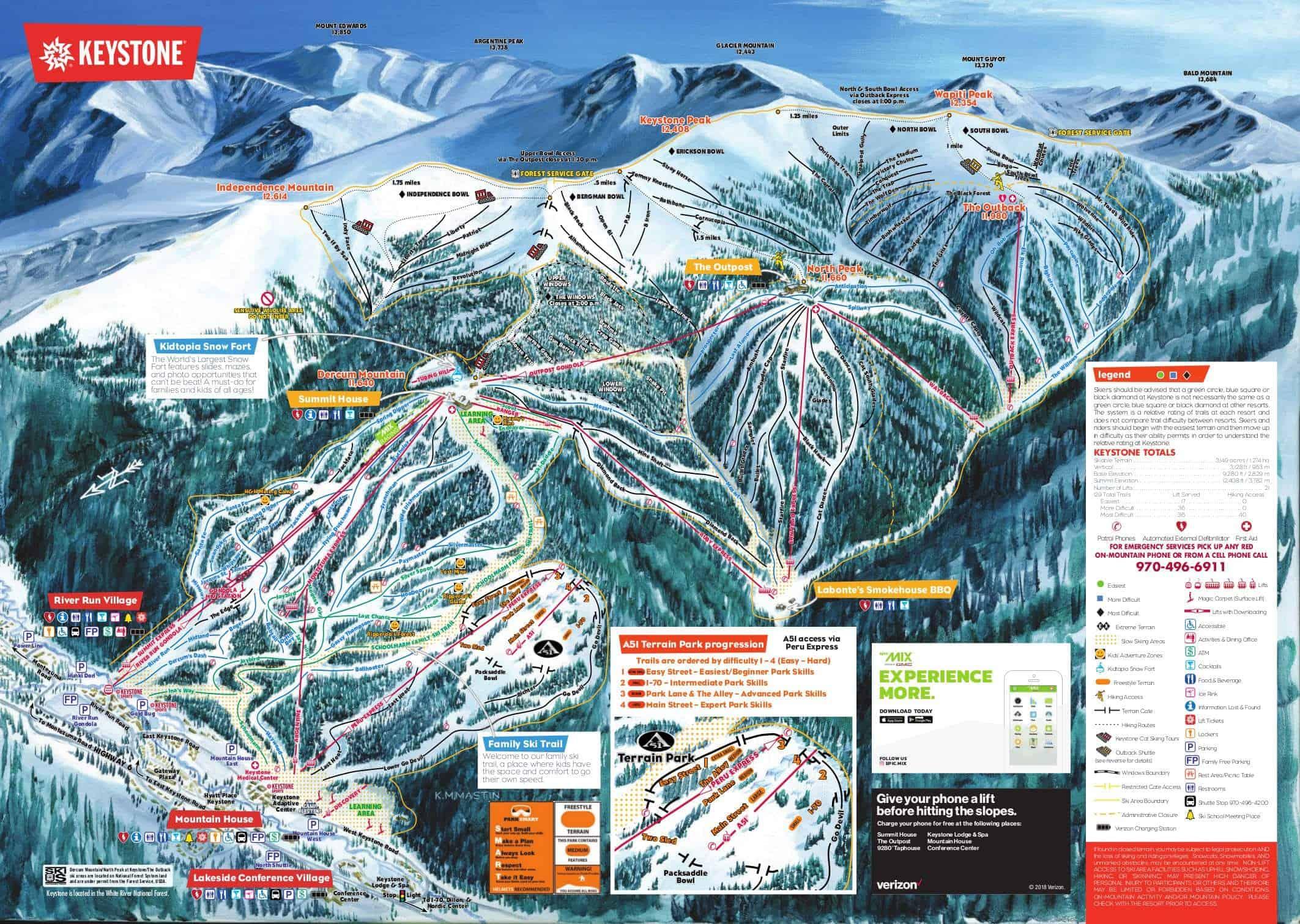 Keystone Ski Trail Map 2019