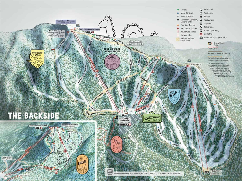 Sierra Tahoe Ski Trail Map 2018
