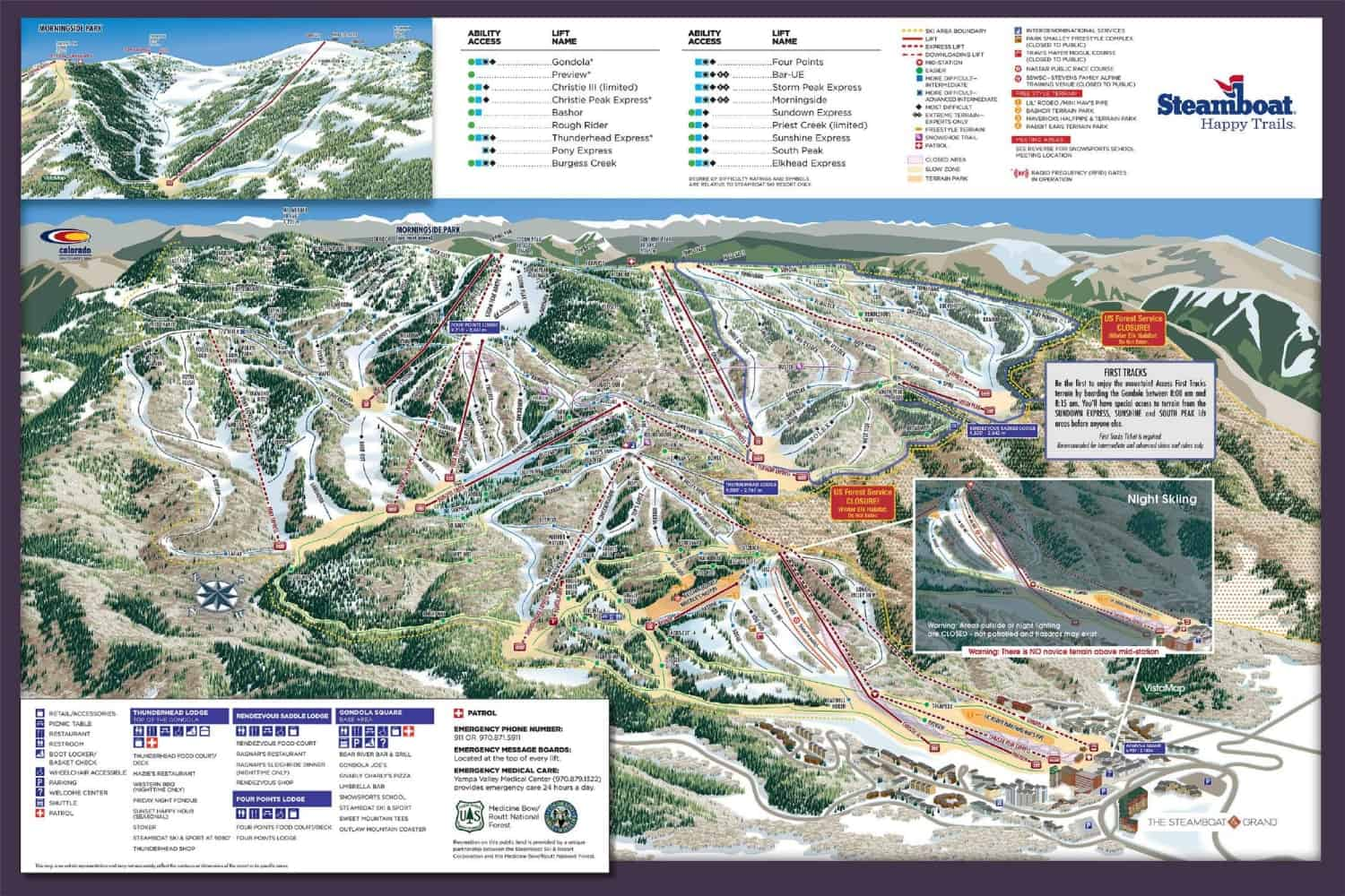 Steamboat Ski Trail Map 2018