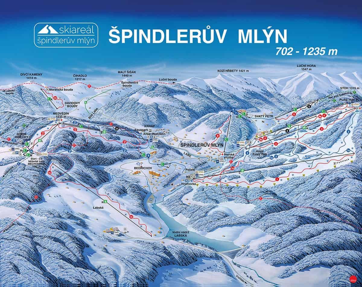 Spindleruv Mlyn Ski Trail Map 2018