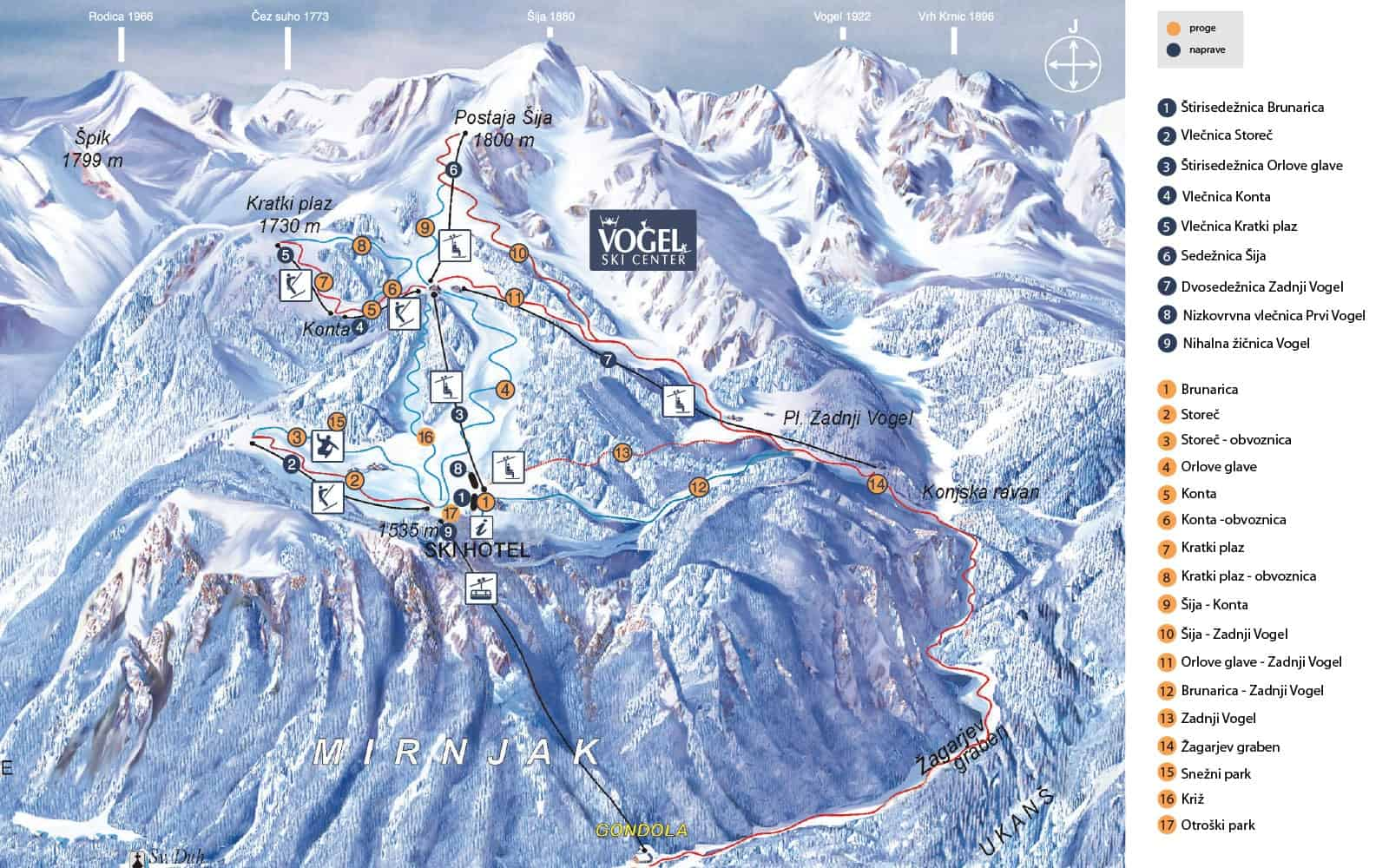 Vogel Ski Trail Map 2019