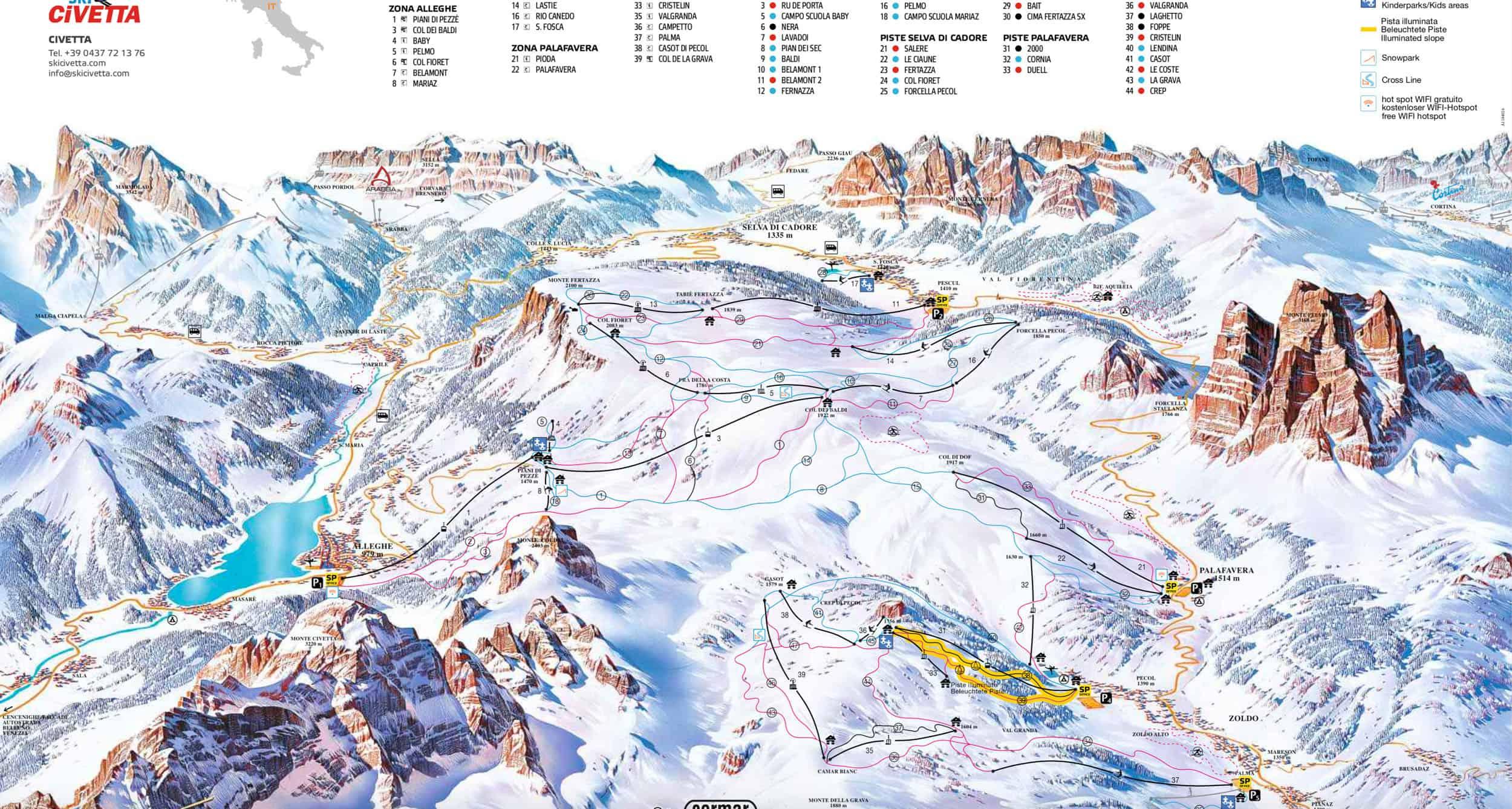Civeatta ski map