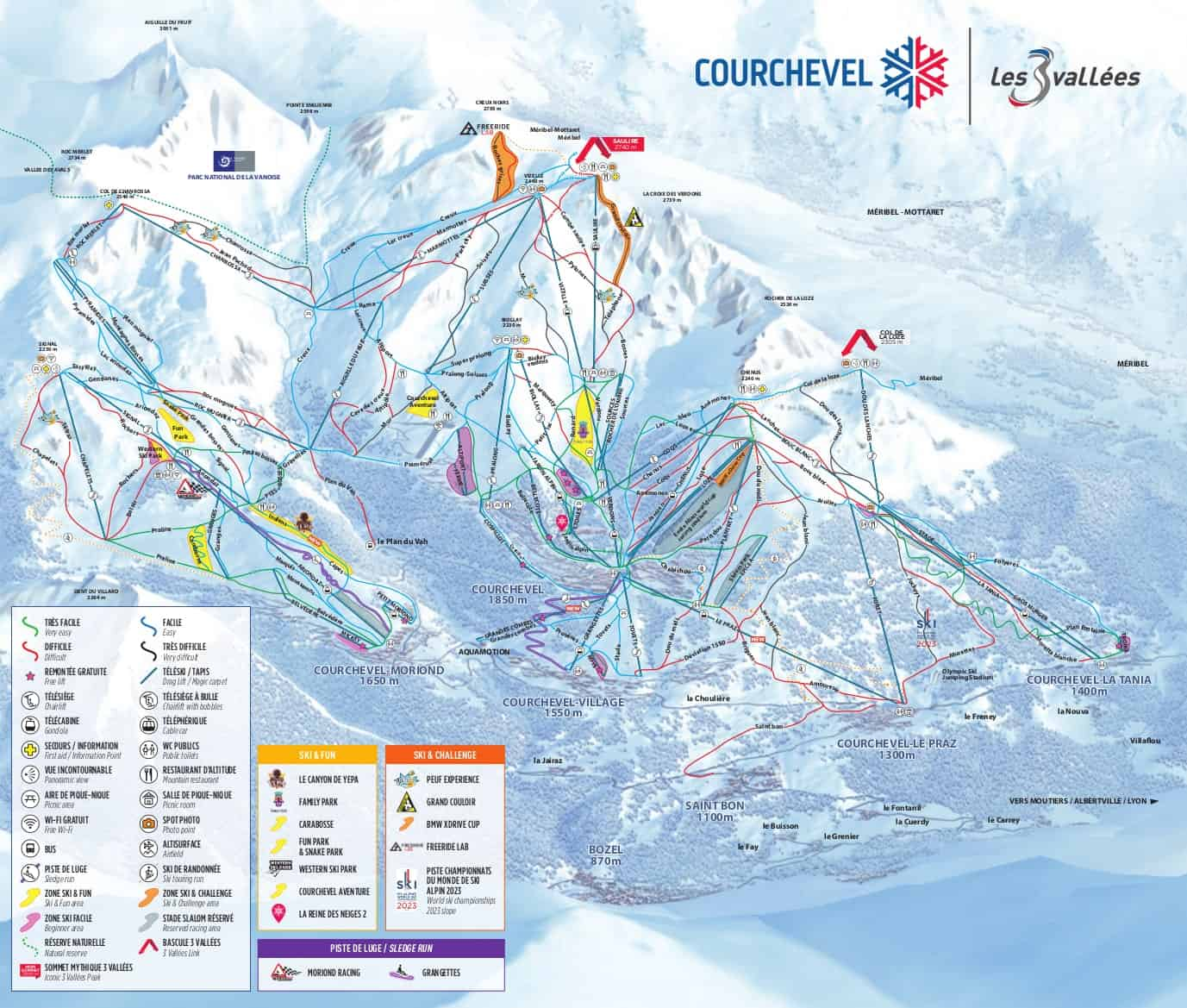Courchevel Pistekort JPG