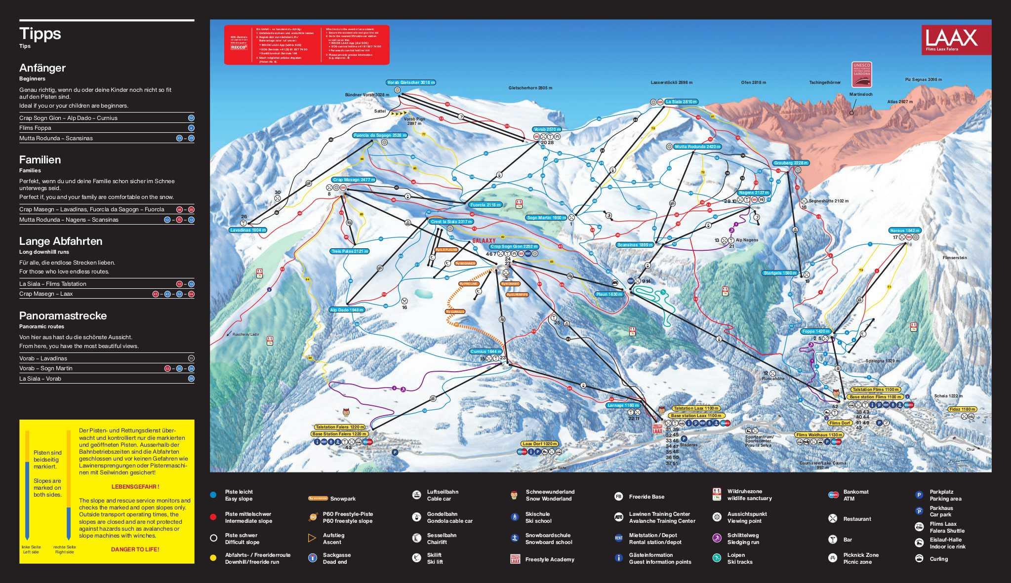 Laax Piste Map JPG