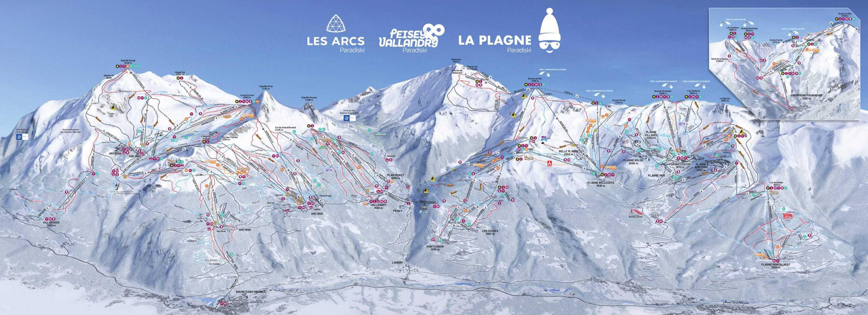 Paradiski Ski Pistekort JPG scaled
