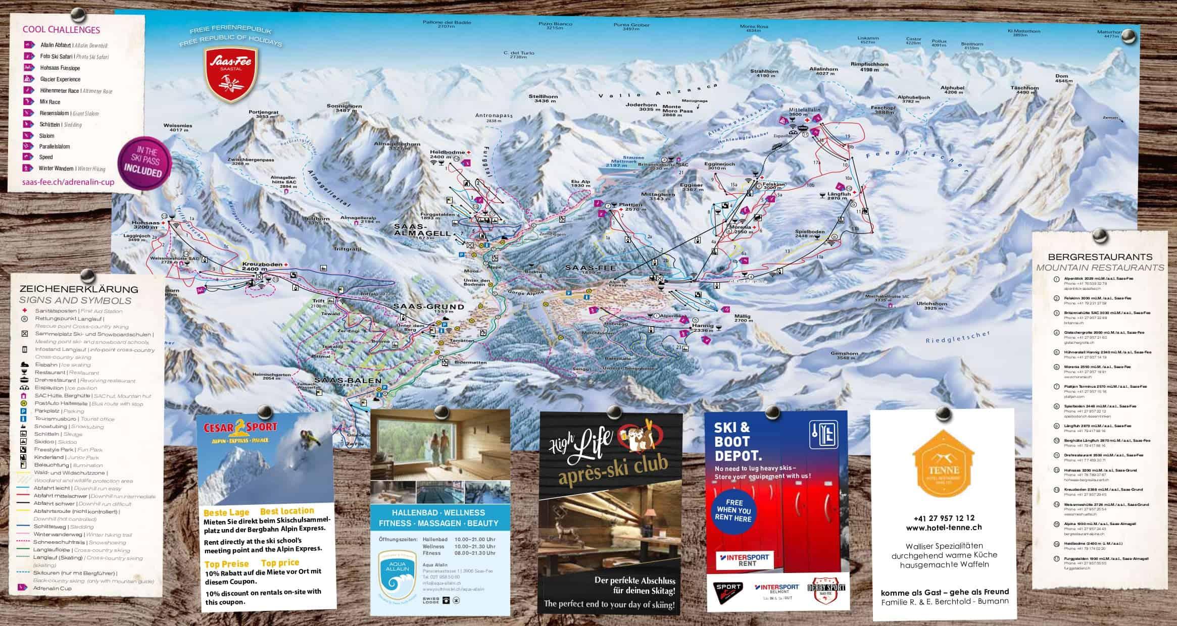 Saas Fee Piste Map JPG