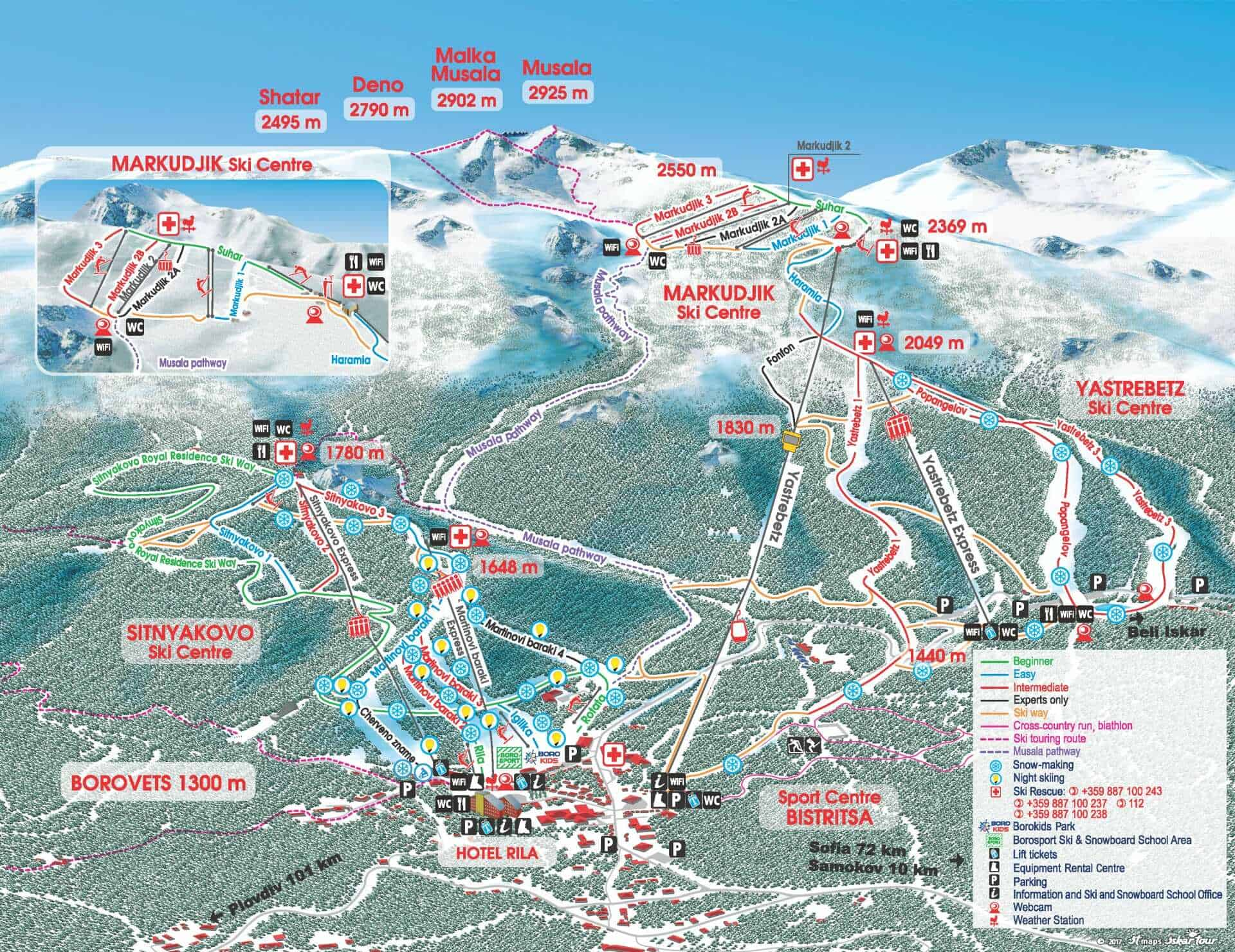 Borovets Ski Trail Map 2019jps optimized