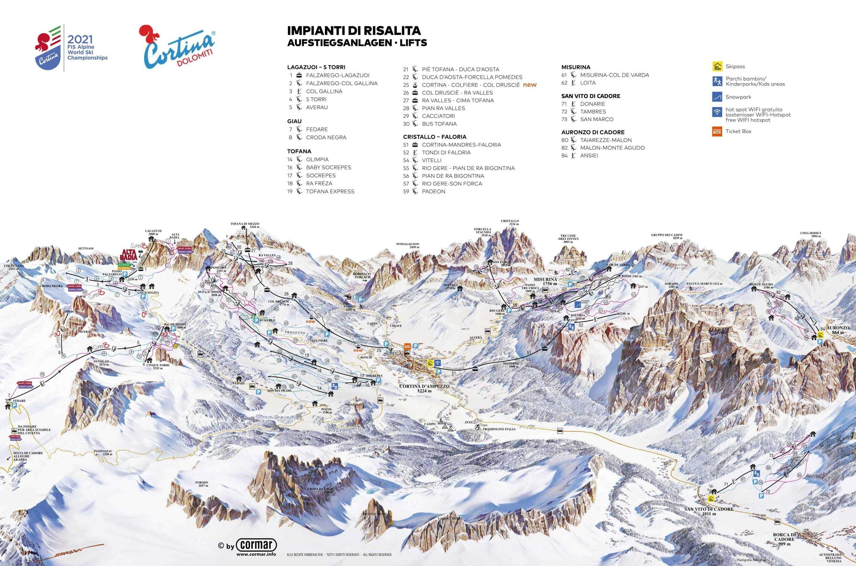 Cortina d'Ampezzo Pistekort