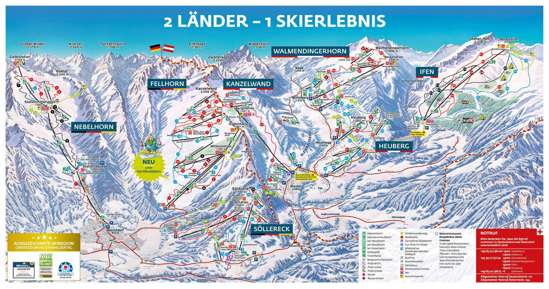 Tyskland Oberstdorf Kleinwalsertal Piste Map 2019 1 scaled