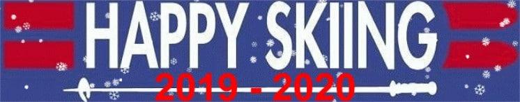 Happy skiing logo