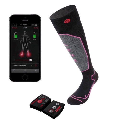 Lenz Products Unisex Set Lithium Pack Heated Sock removebg preview