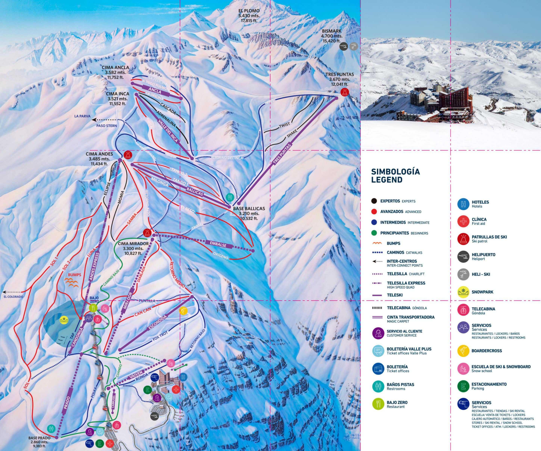 Valle Nevado Pistekort JPG scaled
