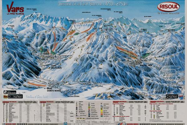 Grandvalira Ski Pistekort