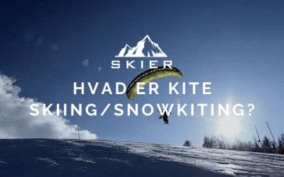 Hvad er kite skiing / snowkiting?