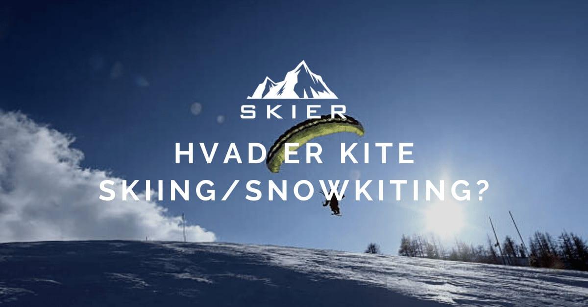 Hvad er kite skiing snowkiting